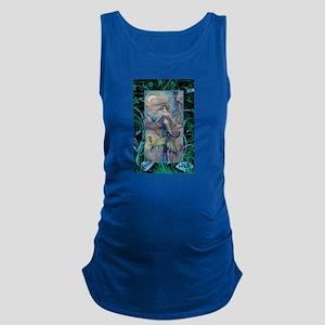 Mermaid and Seahorse Fantasy Ar Maternity Tank Top