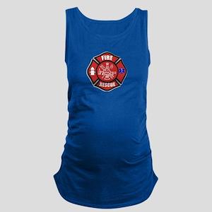 Fire Rescue Maternity Tank Top