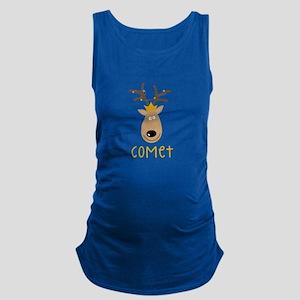 Comet Reindeer Maternity Tank Top
