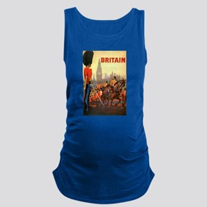 Vintage Travel Poster Britain Maternity Tank Top