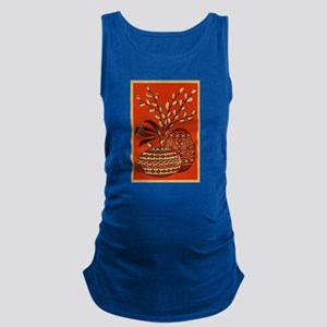 Vintage Russian Easter Card Maternity Tank Top
