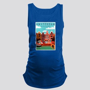 Amsterdam Holland Travel Maternity Tank Top