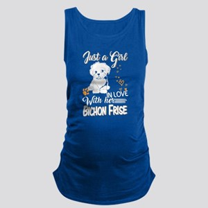Just A Girl In Love With Bichon Frise T Tank Top