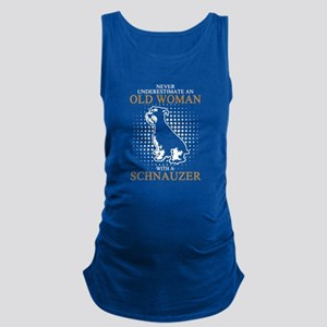 Never Underestimate An Old Woma Maternity Tank Top