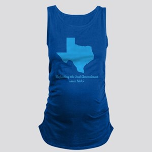 Texas 2nd Amendment Maternity Tank Top