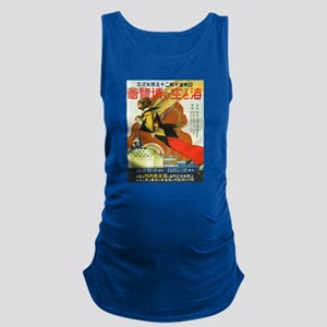 Vintage poster - Tokyo Sea and Maternity Tank Top