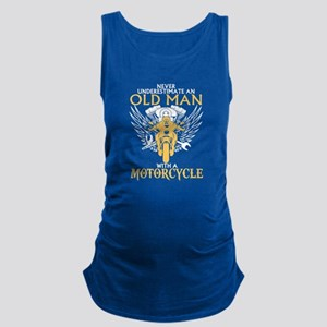 Never Underestimate Old Man Wit Maternity Tank Top