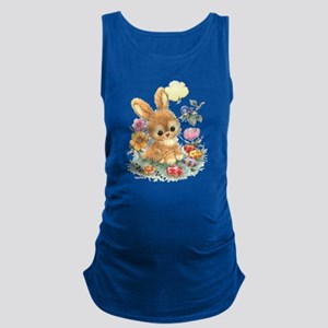 Cute Easter Bunny with Flowers and Eggs Tank Top