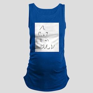 Text cat Maternity Tank Top