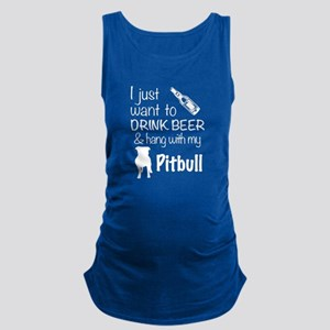Beer And Pit Bull T Shirt Tank Top