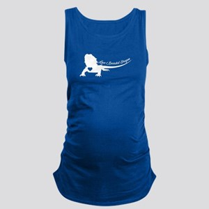 Bearded Dragon Heart Maternity Tank Top