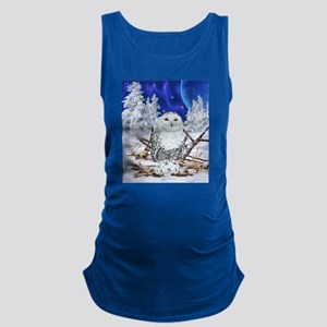 Snowy Owl Digital Art Maternity Tank Top