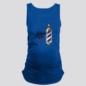 Barber Is In Maternity Tank Top