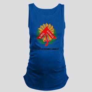 101st Support Group with Text Maternity Tank Top