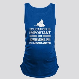 Education Important But Snowmobiling Impo Tank Top