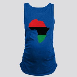 Red, Black and Green Africa Flag Maternity Tank To