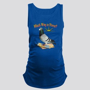 Which Way is Home? Fun Lost Pigeon Art Maternity T