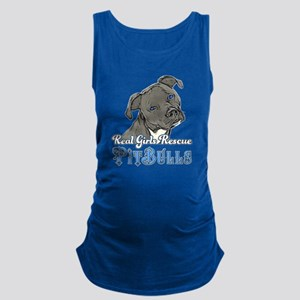 Real Girls Rescue Pitbulls Maternity Tank Top