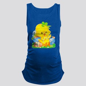 Vintage Cute Easter Duckling and Easter Egg Tank T