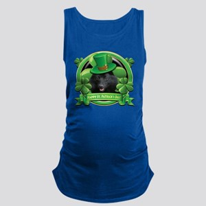 Happy St Patricks Day Schipperk Maternity Tank Top