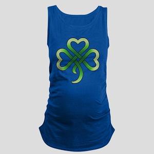 celtic clover Maternity Tank Top