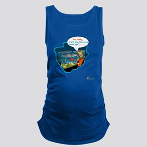 LTR - Left The Fish Store Hours Maternity Tank Top