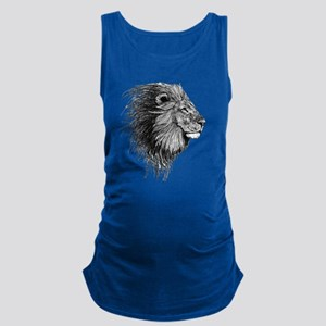 Lion (Black and White) Maternity Tank Top