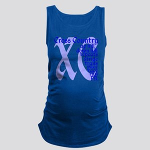 Cross Country XC blue Maternity Tank Top