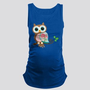 Vintage Owl Maternity Tank Top