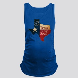 Ive Got Texas in my Soul Maternity Tank Top