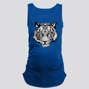 White Tiger Face Maternity Tank Top