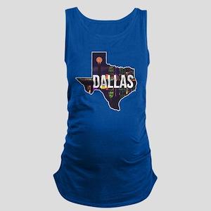 Dallas Texas Silhouette Maternity Tank Top