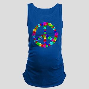 1960's Era Hippie Flower Peace  Maternity Tank Top