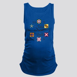 Time to Quilt Clock Maternity Tank Top