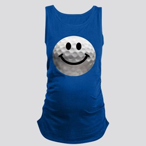 Golf ball smiley Maternity Tank Top