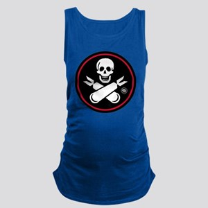 Jolly Rogers Fighter Nose Art Maternity Tank Top