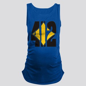 412 Black/Gold-W Maternity Tank Top