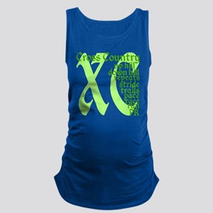 Cross Country XC green Maternity Tank Top
