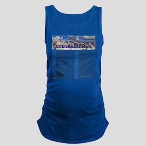 CO 14ers List T-Shirt NO BKGRND Maternity Tank Top