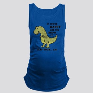 t-rex-clap-2-LTT Maternity Tank Top