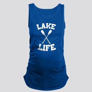 Lake life Maternity Tank Top