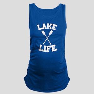 Lake life Maternity Tank Top