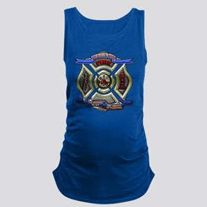 Fire Department Chrest Maternity Tank Top