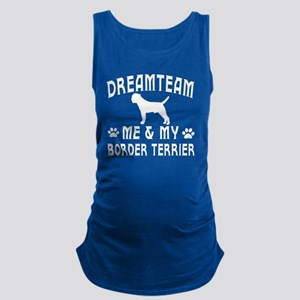 Border Terrier Dog Designs Maternity Tank Top