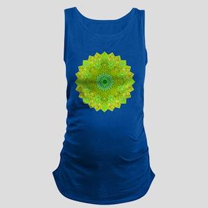 Green Yellow Earth Mandala Shir Maternity Tank Top