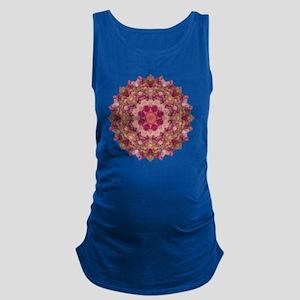 Rose Pink Yoga Mandala Shirt Maternity Tank Top