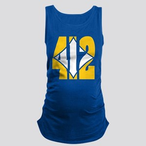 412 Gold/Whilte-D Maternity Tank Top