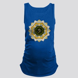 Gold Green Yoga Om Mandala Shir Maternity Tank Top