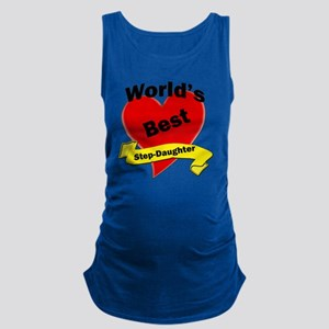 Worlds Best Step-Daughter Maternity Tank Top