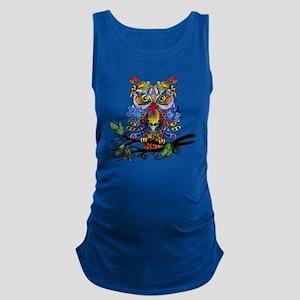 wild owl Maternity Tank Top